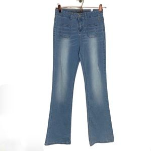 Justice High Waist Light Wash Skinny Flare Jeans